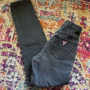 Vintage Guess high waisted black jeans